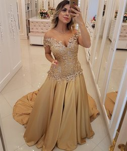 Elegant Off the Shoulder Prom Dresses 2019 Beaded Lace Appliques Corset Bodice Evening Gowns Cocktail Party Ball Dress Special Formal Gown on Sale