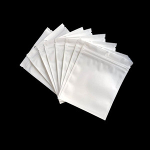 Promotion Clear + white pearl Plastic Poly OPP packing zipper Zip lock Retail Packages Jewelry food PVC plastic bag many size available