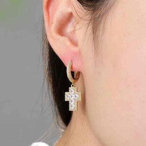Wholesale Luxury Designer Earings Hip Hop Jewelry Men Earrings Hoop Stud Iced Out Diamond Ear Rings Rapper Hiphop Fashion Accessories Bling New