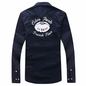 Wholesale summer Best Selling casual Eden park long sleeve shirts men s Polo tops Nice Quality Fashion brand Design casual shirts Size M L XL XXL