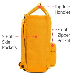 Wholesale Special Edition Swedish Fjallraven Kanken Large Capacity Bags Yellow