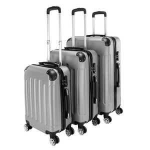 3 Piece 20'' 24'' 28'' Portable Stylish Suitcases Universal wheel travel password box boardingbox ABS Trolley Case Hardside Spinner Luggage