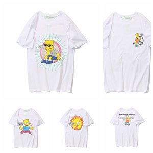2019 100% Off hip hop 19ss Luxury American Simpson Chill Man Skateboard outdoor white T-shirt Fashion Men Designer Women T Shirt Casual Tee on Sale