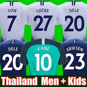 1d734f6661e Top thailand Football shirt KANE spurs Soccer Jersey 2018 2019 LUCAS  ERIKSEN DELE SON jersey 18 19 kit Men and KIDS SET Tottenham uniform