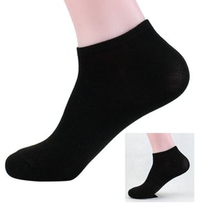 Wholesale Bamboo Fiber Mens Sports Socks Loafer Liner Low Cut No Show Black Boat Socks Cool Elastic