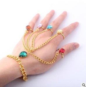 Wholesale Avengers infinity glove bracelet ring colored diamond rings party birthday mother day gifts