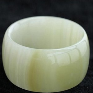 Wholesale natural xinjiang white jade for sale - Group buy Drop Shipping Women Wide Strip Bangles Natural XinJiang White Jade Stone Bracelets Cuff For Women Engagement Dance Party Gifts CX200612