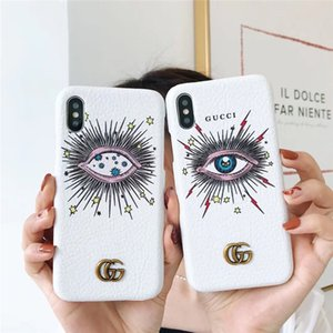 Wholesale Leather Big Eyes phone Case For Iphone XS Max XR X Plus Mobile Cover Protection Coque Shell For Women