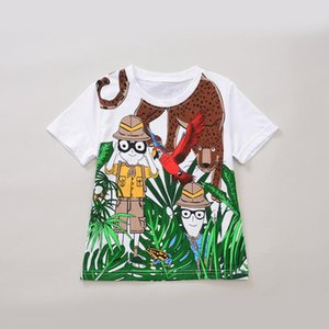 Wholesale Boys T shirt New Summer Trends Tops Shrub Jungle Adventure Design Patterns Short Sleeve Tshirt Cotton Baby Boy Clothes