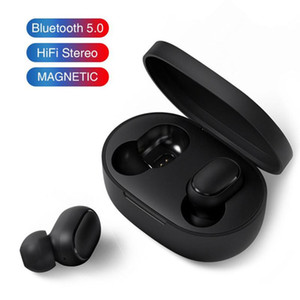 Wholesale Bluetooth Earphones TWS A6S Headphones Bluetooth Wireless Headsets Life Waterproof Mini Twins Bluetooth Earbuds with Mic for Smart Phone