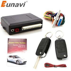Wholesale Eunavi Universal Car Alarm System Auto Door Remote Central Control Lock Locking Keyless LED Keychain Central Kit Door Lock