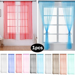 Wholesale Leaf Sheer Curtain White Tulle Cotton Linen Fabric Sheer Voile Curtains Embroidered Window Treatment Drape room Shade Decor YF