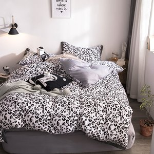 Wholesale Black Leopard Print Bedding Sets Kids Adults Duvet Cover Bed Sheet Pillowcase Queen King Bedding Set Luxury fashion bedclothes