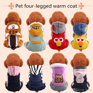 New Fashion Casual Personality Simple Dog Clothes Autumn And Winter Four-legged Winterd Warm Coral Fleece Coat Winter Pet Clothing