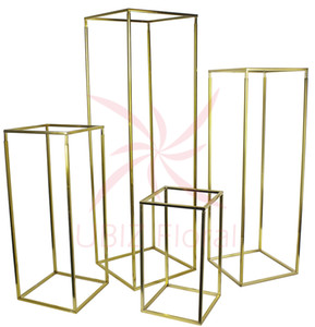 4 pcs A Set flower column stand road lead with transparent acrylic board