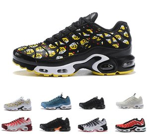 HOT SALE 2019 Plus Tn Prm Men Outdoor Shoes Wmns Sports Running Shoes OG Black White Chaussures Womens Mens Trainer Sneakers