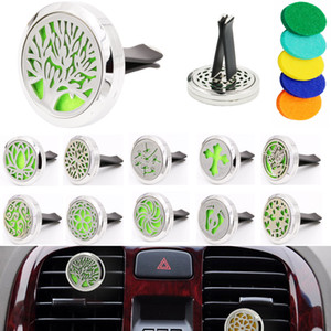 Aromatherapy Home Essential Oil Diffuser For Car Air Freshener Perfume Bottle Locket Clip with 5PCS Washable Felt Pads free shipping