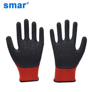 heap Safety Gloves Smar Men Women 1 Pair Outside Red Black Working Wearable Raking Digging Planting Latex Work Glove Hand Protection Gard...