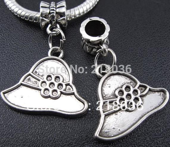 100pcs Tibet Silver Nice Hat Alloy Charms Pendants For Jewelry Making Findings Bracelets Handmade Crafts Accessories DIY Gifts