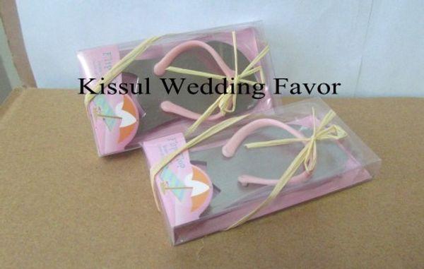 New Arrival Color Pink color Flip Flop Wine Bottle Opener wedding favors for Guests 20Pcs/lot Free Shipping Wedding Keepsake
