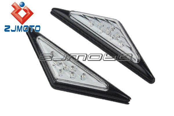 Universal triangle stickers LED Turn Signals Indicators Lights Blinker FRECCE Clignotant for yamaha yzf r1 r6 fz1 fz6 fz8 xjr mt M51536