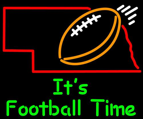 FOOTBALL TIME Neon Sign Real Glass Tube Bar Store Business Advertising Home Decoration Art Gift Display Metal Frame Size 31''X24''