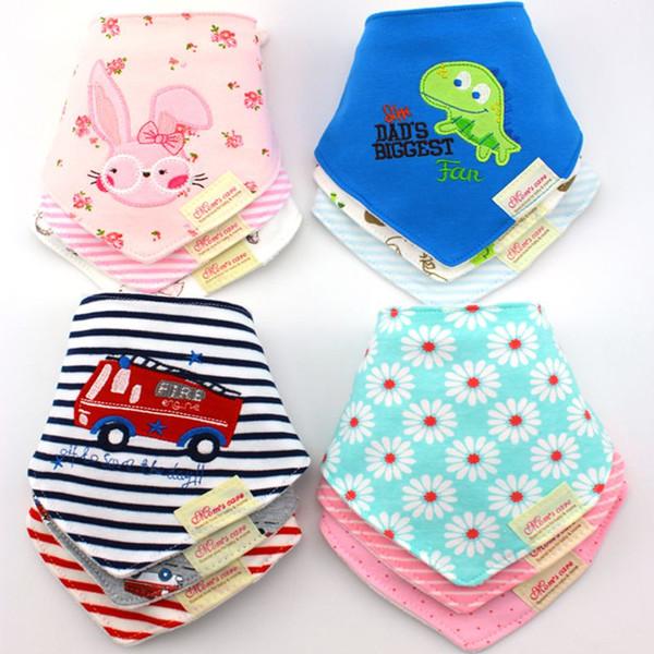45 Motif Mignon Coton Serviette Bébé Toddler Nouveau-Né Triangle Écharpe Babero Filles Nourrisson Smock Infant bavoirs Burp Chiffons