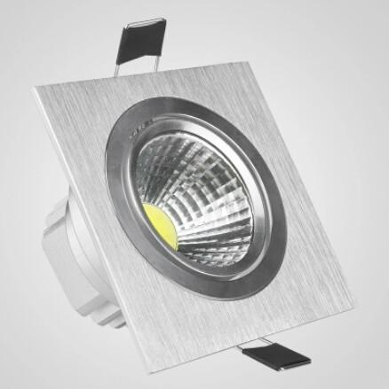 Wholesale price 15W/10W dimmable square cob led down lamps Warm white/Pure White/cold white led ceiling light recessed down lamp AC85-265V
