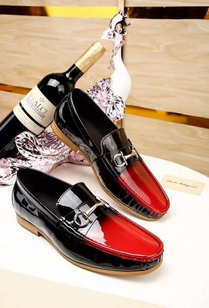 Compre 2018 Recién Llegado De Calidad Superior Precio Al Por Mayor Top Brand Hombres Zapatos De Vestir Negro Rojo Bajo Zapatos De Cuero Respirable