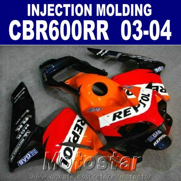 Cheap Injection body parts for HONDA CBR 600RR fairing 2003 2004 OEM set cbr600rr 03 04 motorcycle fairings iQJA