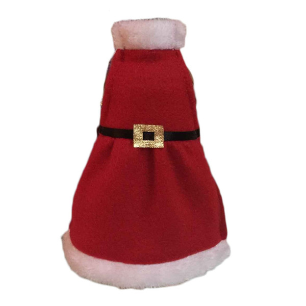 Wholesale- Red Wine Apron Bottle Cover Bags Christmas Table Decoration XMAS Home Party Decor Product 0004