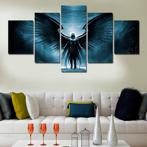 Unframed 5 Pcs hohe Qualität billige Kunst Bilder große HD Modern Home Wand Dekor abstrakte Leinwand Ölgemälde kostenlose Lieferung
