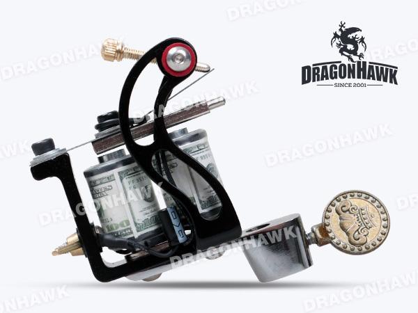 New Tattoo Machine Gun Plata Shader 10 Wraps Steel Frame Copper Coils WQ4127