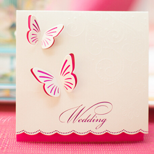 Wedding Invitations Butterfly Style Fancy Design Invitation Card