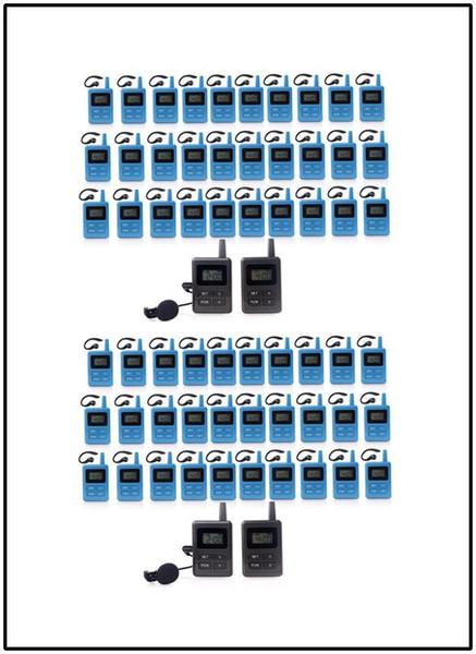Audioführer für tragbare kabellose Empfänger für das Tour Guide-System Simultaneous Translation Meeting Church (4 Sender + 60 Empfänger)