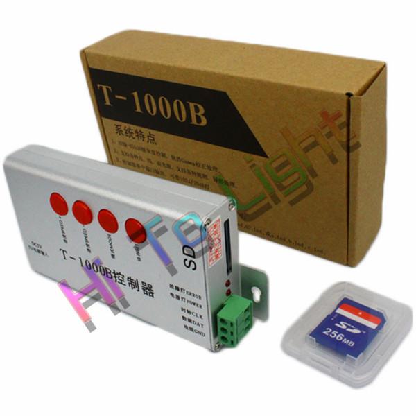 T-1000B Controller LED 256 MB scheda SD 2048Pixel per 2811 2801 6803 8806 1903 Full Color Controller modulo programmabile DC5V Hitolight