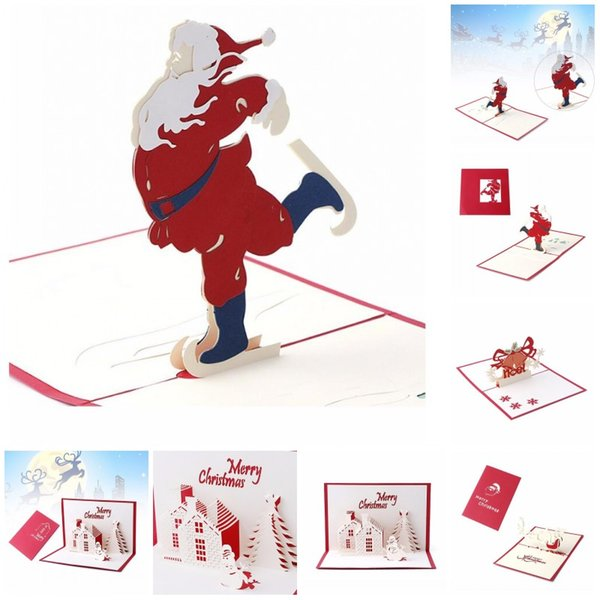 Handmade Christmas Card 3d Pop Up Greeting Card Christmas Bell Party Invitations Paper Card Personalized Keepsakes Postcards Birthday Cards Online
