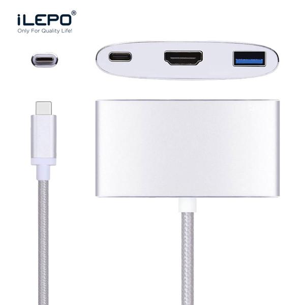 USB-C USB 3.1 Typ C zu HDMI 4K * 2K USB 3.0 Hub Converter Ladekabel Adapter High Speed für MacBook Pro Laptop