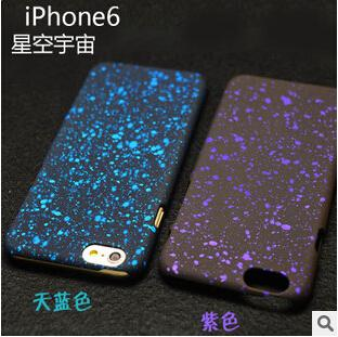 2015 Newest For iphone 6 Plus 3D Hard PC Case Fluorescence Star Night Sky Matting Back Cover Skin For iphone 4S 5 5S