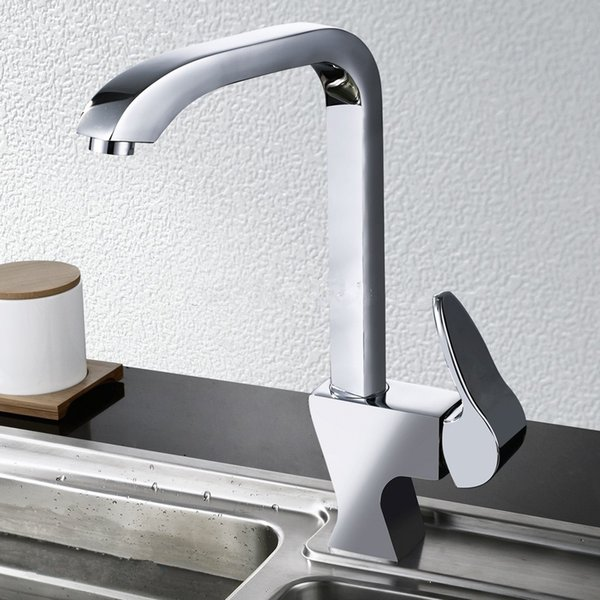 2015 New Arrival High Quality Lead Free Water saving Brass Chrome Single Handle Kitchen Faucet Mixer Tap
