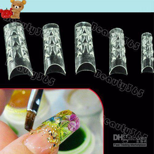 Nuovo 150pcs False Nail Tips Mosaico francese trasparente acrilico UV Gel Salon fai da te 4055