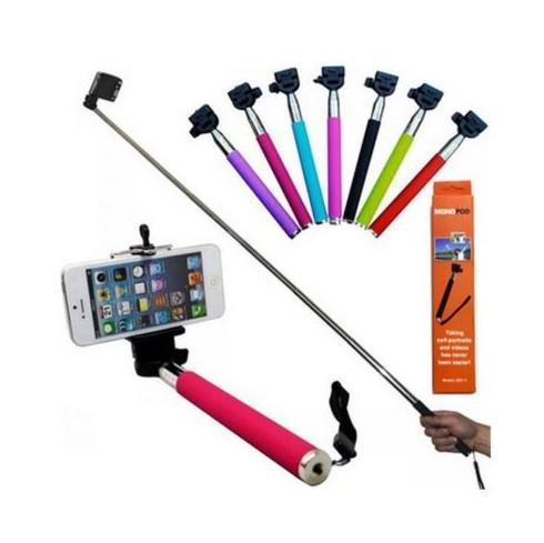 Prezzo di fabbrica Bluetooth Handphone Shutter Monopiede portatile con autoscatto tenuto in mano con supporto per clip per iPhone 6 Samsung universale