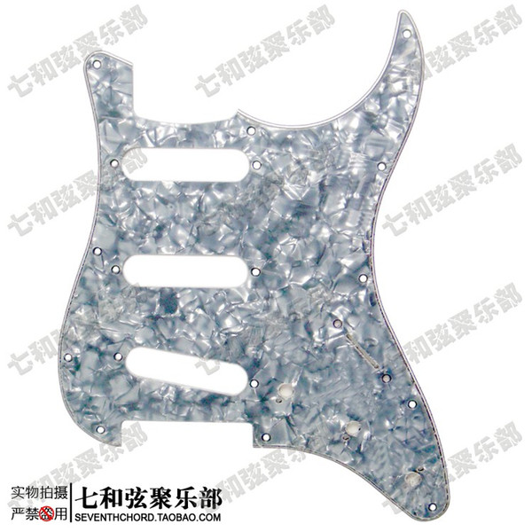 Grey Pearl 3 Ply SSS Electric Guitar Pickguard Anti-Scratch Plate with Screws