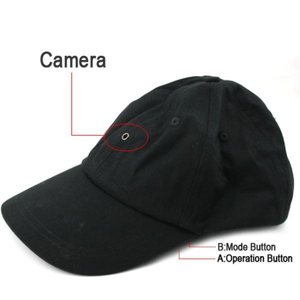 Casquette Caméra avec lecteur MP3 Bluetooth Romote Control HD Hat mini DVR sténopé caméra vidéo enregistreur noir dans le paquet de détail