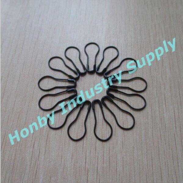 22mm Cool Black bulb Pin de seguridad en forma de ropa colgante Tagse DIY fabricación de joyas artesanales