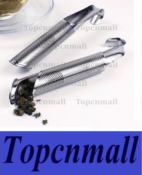 Stainless Steel Portable Loose Leaf Tea Infuser Stick Pipe Design Mini Tube Teaspoon Colander Kitchen Drinkware Tool TPML-0125