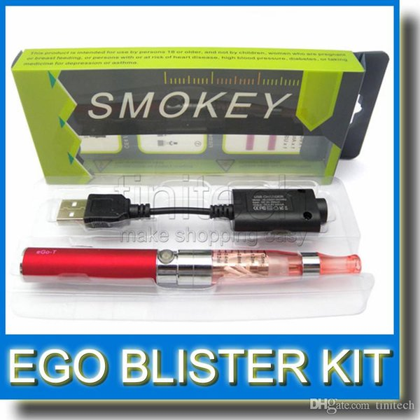 Ego CE5 Box Blister Kits Ego ce5 e-cigarette blister kits sets with 650mah 900mah 1100mah Ego T battery CE5 Clearomizer 2015 hot sale kit