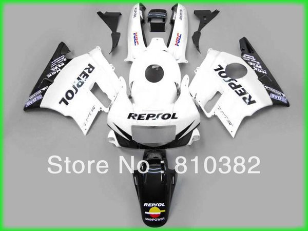 Custom-Panel-Kit für CBR600F2 CBR 600 CBR 600 F2 1991 1992 1993 1994 91 92 993 94 REPSOL weiße, schwarze Motorradverkleidung
