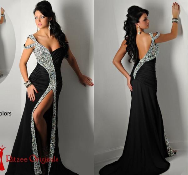Ritzee Originals Gorgeous Black Pageant Designs Dresses 2016 Off ...