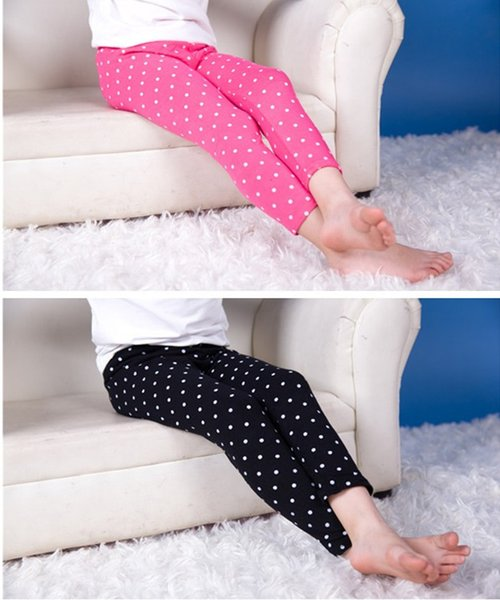 Leggings For Kids Cotton Polka Dot Print Pants Trousers For Girl Free Shipping